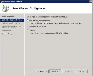 Windows-server-Backup-Custom-Configuration